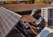 instalando un panel solar
