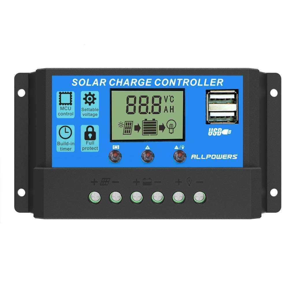Controlador Carga Inteligente para Panel Solar 20A, 12v, 24v