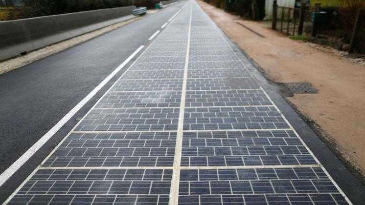 camino solar de paneles solares