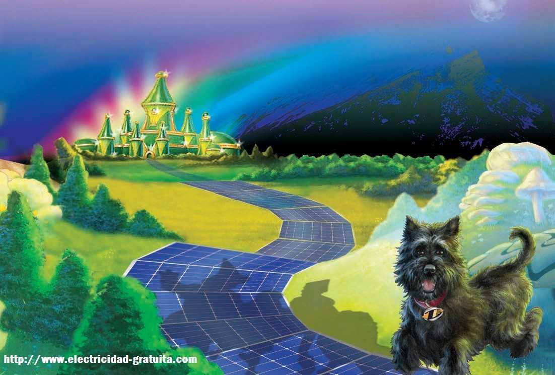 Carreteras De Paneles Solares Sigue El Camino Fotovoltaico